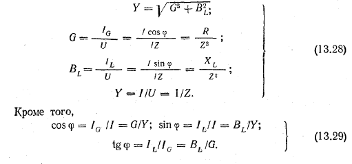 Из треугольника проводимостей