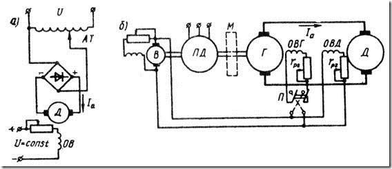 Схемы включения двигателей