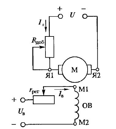 Схема пуска двигателя постоянного тока фото 434