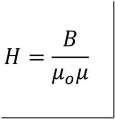 Формула напряженности магнитного поля