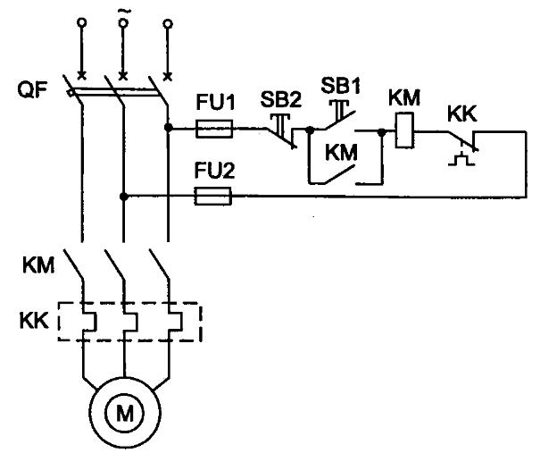 Простейшая схема асинхронного двигателя