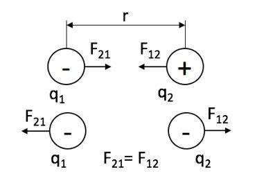 Сила взаимодействия зарядов