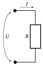 Рис. 3. Участок электроцепи с сопротивлением R