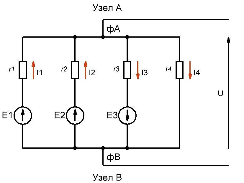 Рисунок 4 – Реальные направления токов.