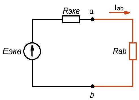 Рис. 2. Эквивалентная электрическая схема