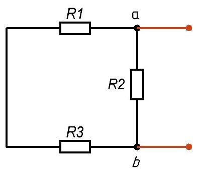 Рис. 4. Схема без источника эдс