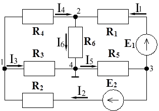 Рис.1. Схема постоянного тока